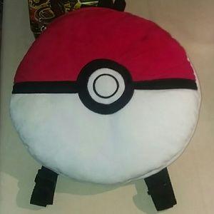 Other - Pokemon Pokeball Anime Plush Soft Backpack